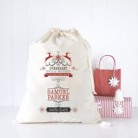 Overnight Express Delivery Personalised Santa Sack 11