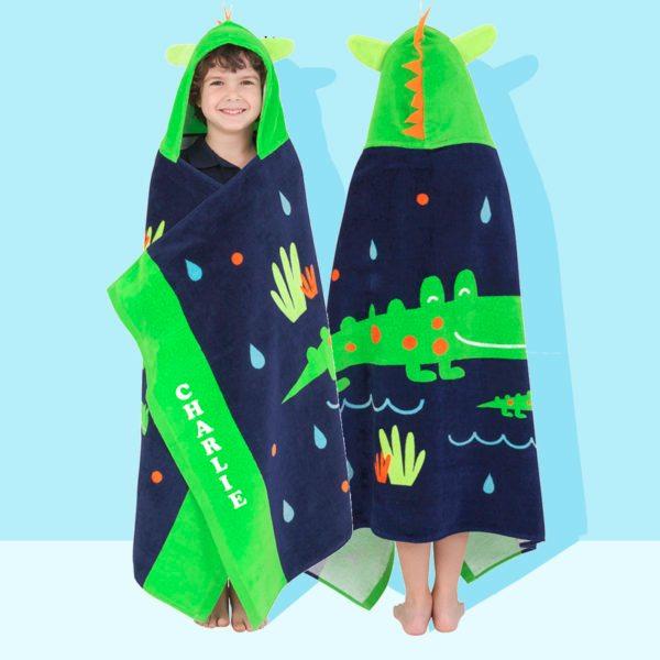 kids hooded beach towels. Hooded Beach Towel Personalised Crocodile Kids Towels B