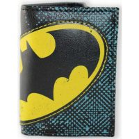Batman Halftone Applique Tri-fold Wallet