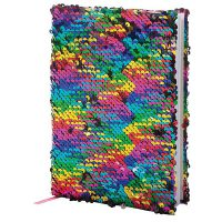 Sequin Reversible A5 Notebook Asst. 9