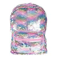 Sequin Reversible Backpack Bag - Pearlescent 11
