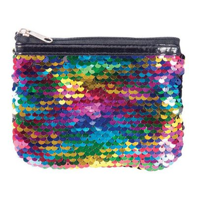 Sequin Reversible Coin Purse - Rainbow 2
