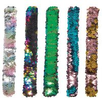 Sequin Reversible Slap Bands Asst. 9