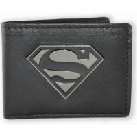 Superman Metal Badge Bi-fold Wallet