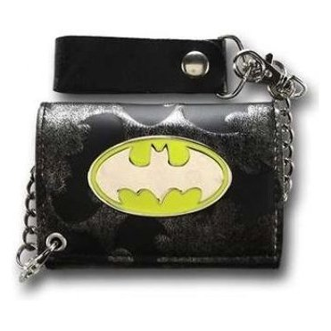 Batman All Over Print Logo Men Wallet with Chain