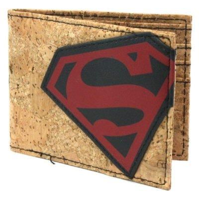 Superman Cork & Applique Bi-Fold Wallet