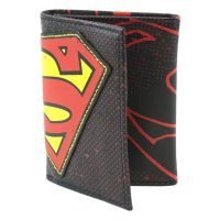 Superman Halftone Applique Tri-fold Wallet