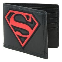 Superman Red Patent Shield Bi-Fold Wallet