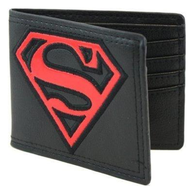 Superman Red Patent Shield Bi-Fold Wallet