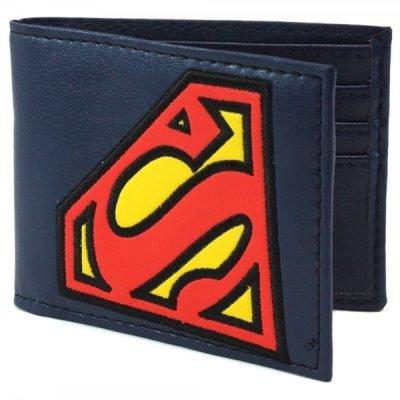 Tilted Superman Logo Bi-Fold Wallet
