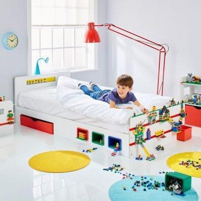 Building Brick Single Bed